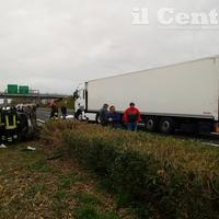 La scena dell'incidente sull'A25