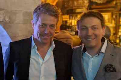 Fabrizio Mancinelli con Hugh Grant