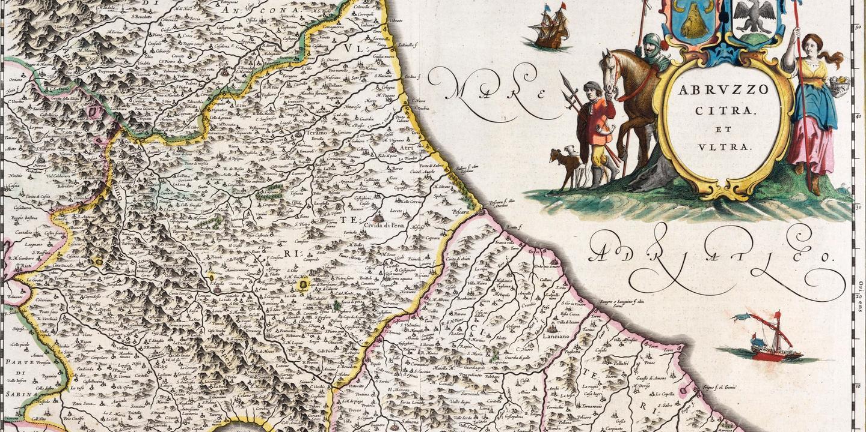 Cartina Dettagliata Abruzzo.Antiche Mappe Dell Abruzzo Tutti I Confini Della Storia Spettacoli Il Centro