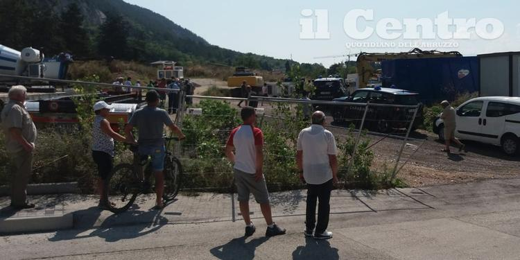 Il cantiere dove è avvenuta la tragedia a Barete (foto di Raniero Pizzi)
