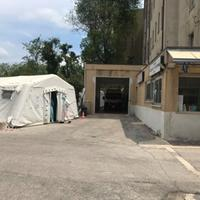 Tenda triage al Pronto soccorso di Penne