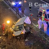 La scena dell'incidente (foto di Luciano Adriani)